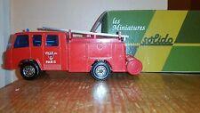 Solido Berliet 770 Ke Camiva Fourgon 1 Secours Fire Truck, #350,1:50 Die-cast