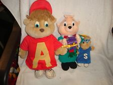 SET OF 3   ALVIN AND THE CHIPMUNKS PLUSH   BIN 1