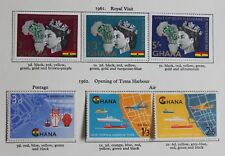GHANA 1961 Royal Visit - 1966 World Football Cup Commemoratives Mounted Mint