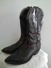 Western Cowboy Boots, brown leather, women's size 8 US
