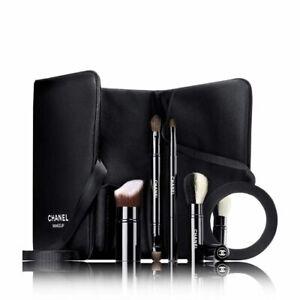 CHANEL LES INDISPENSABLES DE CHANEL Makeup BRUSHES HOLDER BAG WITH MIRROR