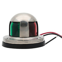 Marine Bow Navigation Light 12V Boat Yacht Bi-Color LED Lights Stainless Steel