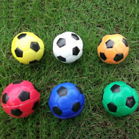 Football Ball Exercise Stress Relief Squeeze Elastic Soft Foam Ball 6.3cm LJ