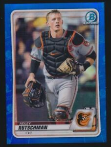 2020 Bowman Chrome Adley Rutschman Blue Refractor /150 Orioles