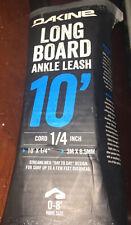 Dakine Longboard Ankle Surfboard Leash Black 10 Ft x 1/4 In Black Duracord