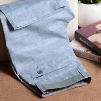 Summer Men's Linen Cotton Short Pant Thin Casual Rope Trousers 6 Colors