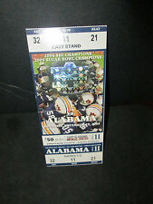 Ncaa- 2005 Iron Bowl -Rare Full Ticket- Tigers Over Tide 21-7-
