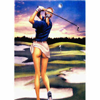 Golf Beauty Theme  Decorative House Banner Double-side Garden Flag 28x40inches