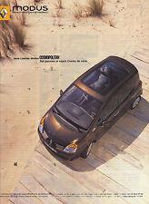 PUBLICITE ADVERTISING  2005   RENAULT  MODUS COSMOPOLITAN