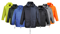Portwest Classic Rain Jacket Waterproof Work Coat Hooded Zipped Breathable S440