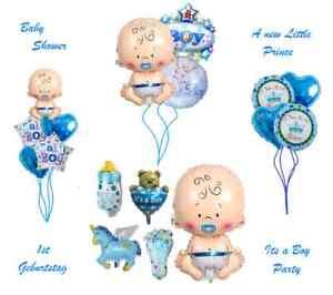BabyShower Folien&Helium Ballon XXL Baby Boy Party Geburt Taufe ITS A BOY Junge