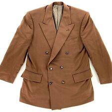 Loro Piana Mens 100% Cashmere Bespoke Double Breasted Blazer Jacket Brown • 40 S