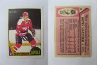 1987-88 OPC O-Pee-Chee #68 Hatcher Kevin  RC Rookie  capitals