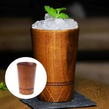 1Pc Vintage Handmade Wooden Tea Drinking Cup Milk Beer Coffee Mug Wood Glass