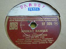 78 rpm-LOUIS ARMSTRONG - Muskat ramble - Cornet shop suey - COLUMBIA BF 309