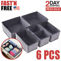 Clothes Drawer Organizer Dividers Foldable Closet Dresser Storage Box Bins Cubes