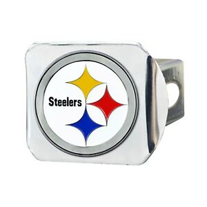 Fanmats NFL Pittsburgh Steelers  3D Color on Chrome Metal Hitch Cover 2-4 Days