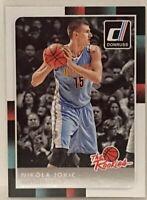 2015-16 Donruss  Nikola Jokic Rookie Card # 43 The Rookies Denver Nuggets NBA