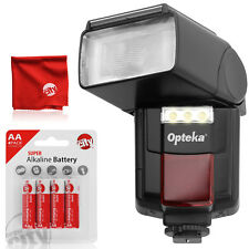 Opteka Autofocus Flash w/ Built-In Video Light for Canon Nikon Pentax Sony