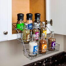 Kitchen Cabinet 3-Tier Spice Rack Pulldown Holder, Jar Vinegar Oil Bottle Rack
