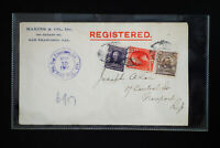 US Rare 1906 Stamped Registered Cover