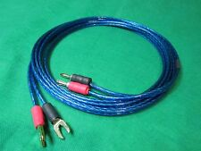 Samurai  TRUE 12 Gauge Wire Speaker Cable 2 Banana to 2 Spades , 10 Ft.
