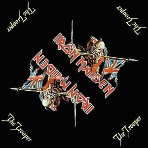 Iron Maiden Bandana The Trooper Logo Official New Black (21in x 21in) One Size