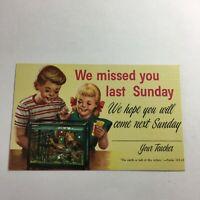 Vintage Postcard Sunday School Reminder  R4