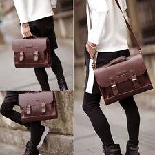 Leather Briefcase Satchel 14-13.3'' Laptop Bag Shoulder Messenger Bag Men Women