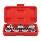 """7 Pcs 3/8"""" Oil Filter Cap Wrench Tool Kit 24 27 29 30 32 36 38mm Socket Set"""