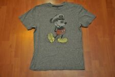 Mickey Mouse Captain T-Shirt Men L Large Slim Medium Disney Cruise Line Gray
