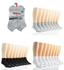 Men's Wilson 8 Pack Cushioned Ankle Low Cut No Show Quarter Socks Sport Sz 10-13