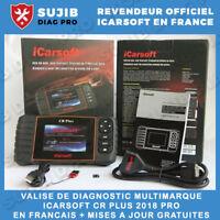 Valise Diagnostique Multimarque Auto En Français Obd avec Ecran ICARSOFT CR PLUS