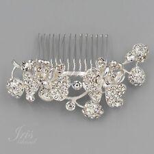 Bridal Hair Comb Crystal Headpiece Hair Clip Wedding Accessories 09993 Flower S