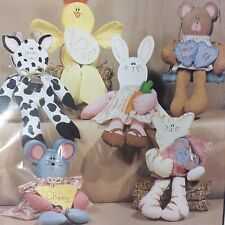 Barnyard Block Party Wood Patterns Workshoppe Originals N5505 1992 Wood & Fabric