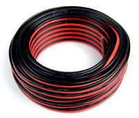 16 Gauge 50 Feet Speaker Wire Red Black Jacket Zip Cord Cable Copper Clad CCA