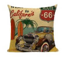 Vintage Car VC3 Retro Classic Automobile Pillow Cover California Route 66 USA