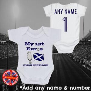 Scotland My 1st Euros Personalised Football Bodysuit Boys Girls