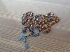 Ancien Chapelet Grain Verre ? Quartz ? Lourdes - Old French Rosary - Lot 9