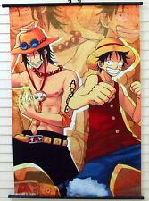 One Piece Luffy Ace Anime Manga Wallscroll Stoffposter 60x90cm