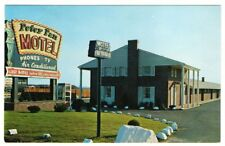 Undated Unused Postcard Peter Pan Motel NYC Tours New York NY Great Sign