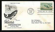 #1079 3c Wildlife Conservation - King Salmon - ArtCraft FDC