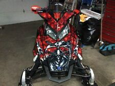 AMR RACING GRAPHIC DECAL WRAP KIT POLARIS RUSH PRO RMK 600/800 SLED - REAPER RED