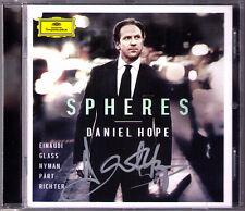 Daniel HOPE Signed SPHERES Philip Glass Arvo Pärt Michael Nyman Jenkins Bach CD