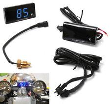 1x Blu ATV LCD digitale motocicletta raffreddamento acqua termometro Sensore 12V