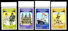 Kenya - 1981 Royal wedding - Mi. 192-95A (perf. 14) MNH