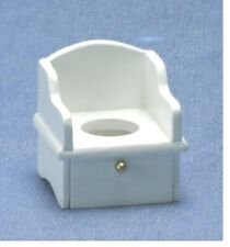 Dollhouse Miniatures 1:12 Scale Potty Chair, White #CLA01225