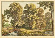 DRESDEN - GROSSER GARTEN - Ludwig Richter - kolorierte Radierung 1820