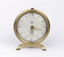 Rare Vintage 1960s Alarm clock german RUHLA GDR Retro Old Desk table watch decor