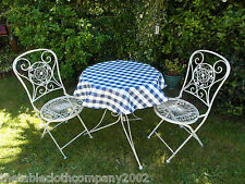 100cm Round Pvc/Vinyl Oilcloth Bistro Tablecloth - Blue & White Gingham Check
